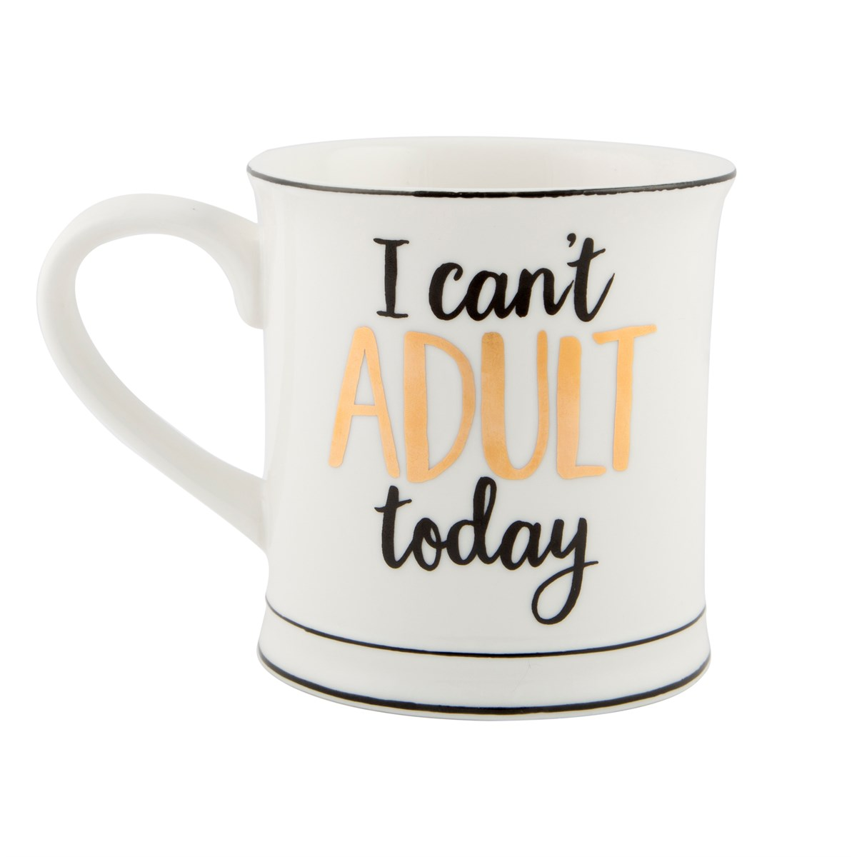 Metallic Monochrome I Can't Adult Today Mug