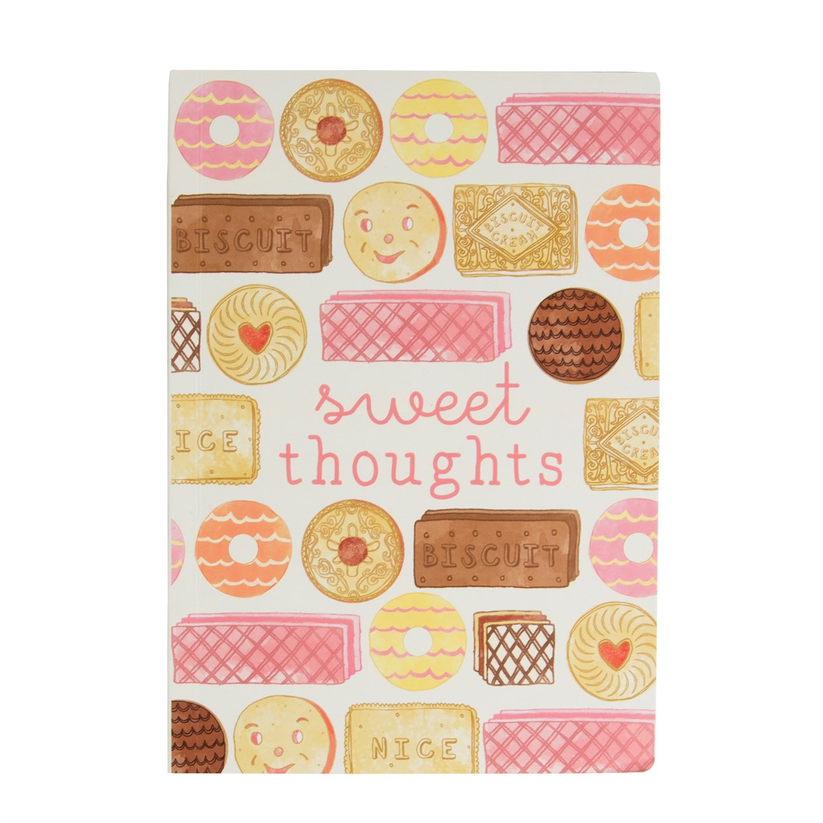 Sweet Thoughts Biscuit A5 Notebook