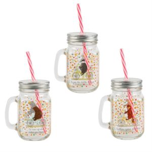 Happy Animals Mason Drinking Jars Asstd