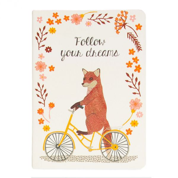 Happy Animals on Bike Pocket Notebook